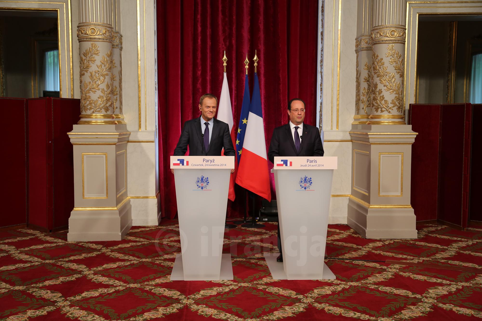 Premier Donald Tusk w Paryżu