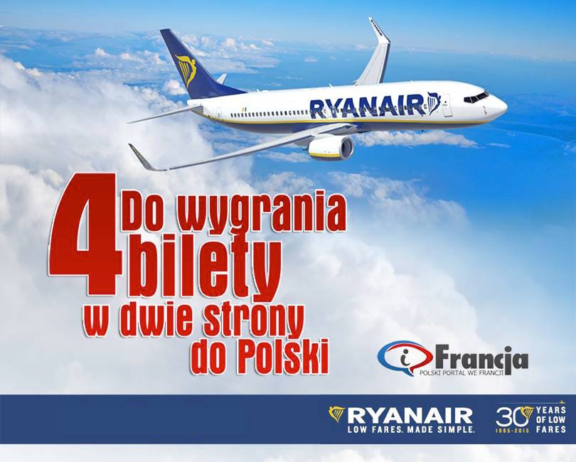 Konkurs iFrancja – Wygraj bilety lotnicze Ryanair!