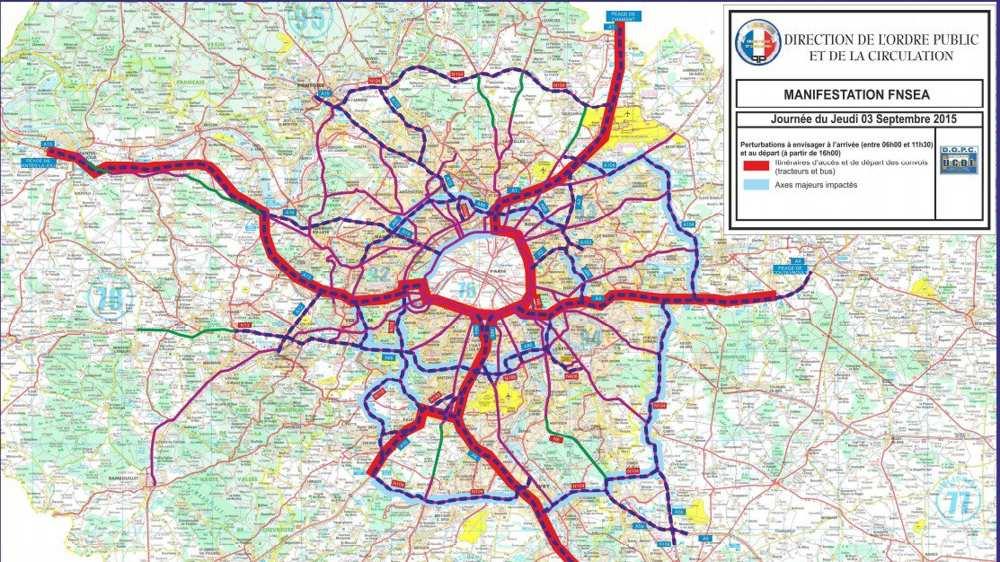 Uwaga! Jutro nie wybieraj się w podróż samochodem po regionie paryskim