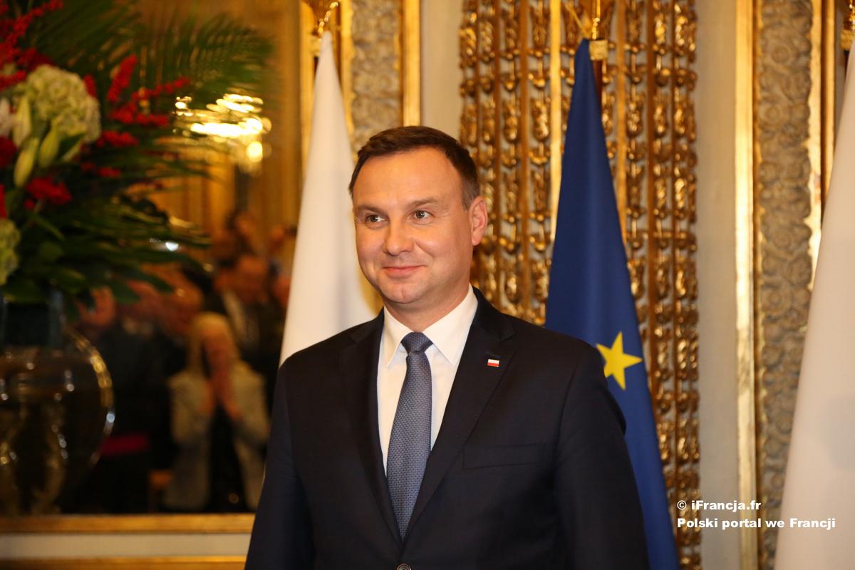 Wizyta prezydenta Andrzeja Dudy w Paryżu