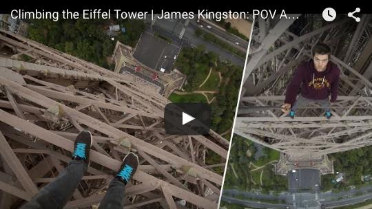Zobacz jak Brytyjczyk wspina na Wieżę Eiffla bez zabezpieczeń