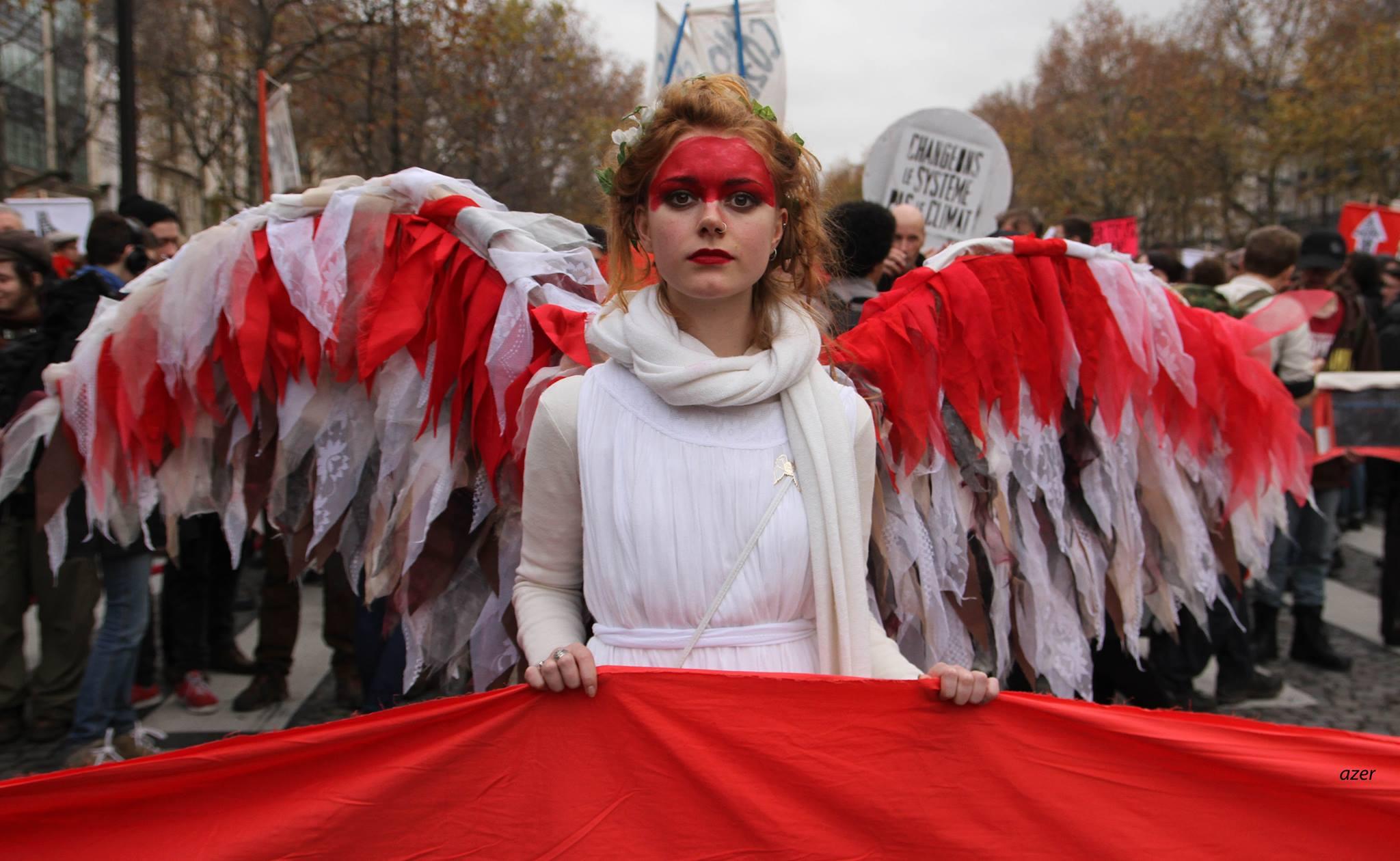 Manifestacje COP 21 w Paryżu  (by azer)