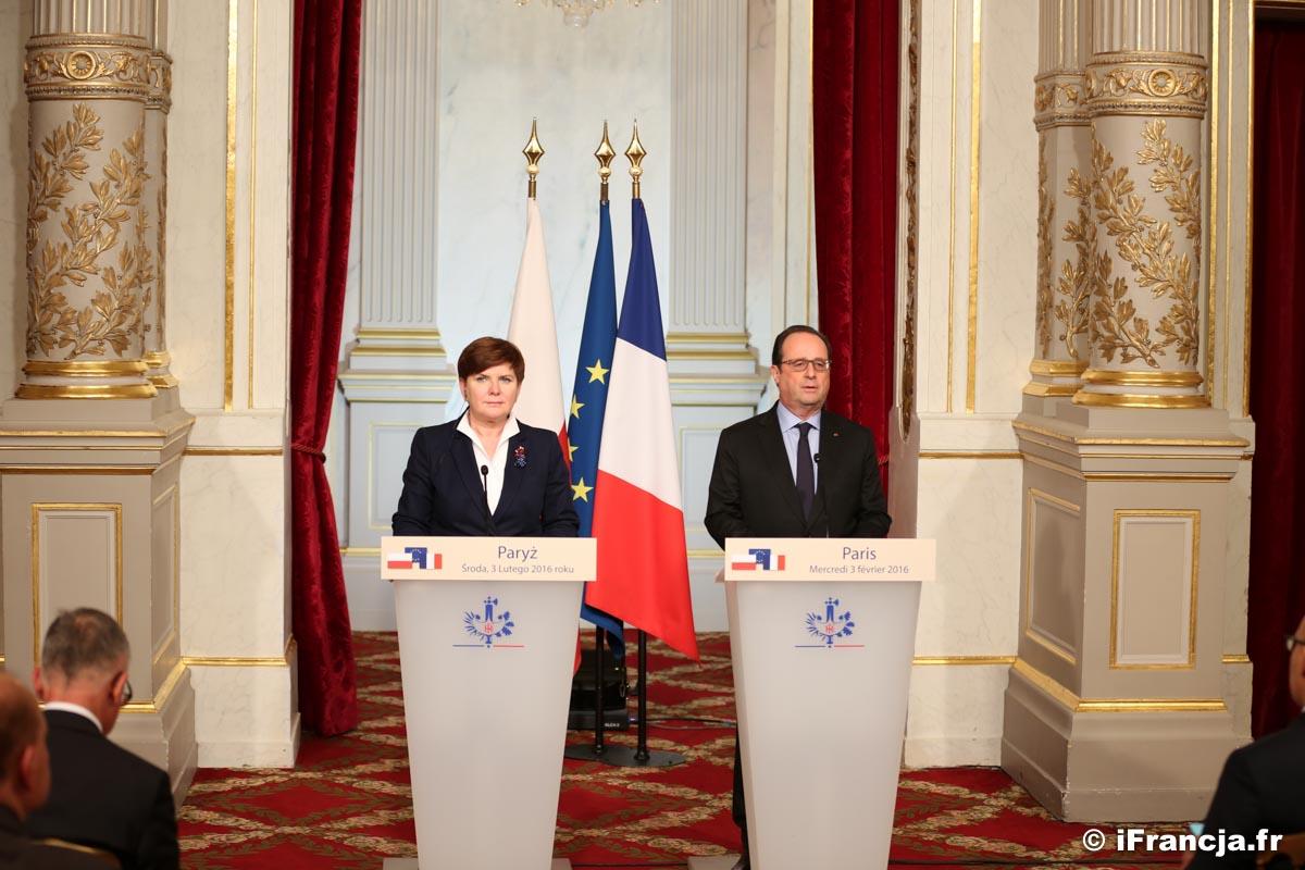 Premier Beata Szydło spotkała się w Paryżu z prezydentem François Hollande'm – Fotoreportaż