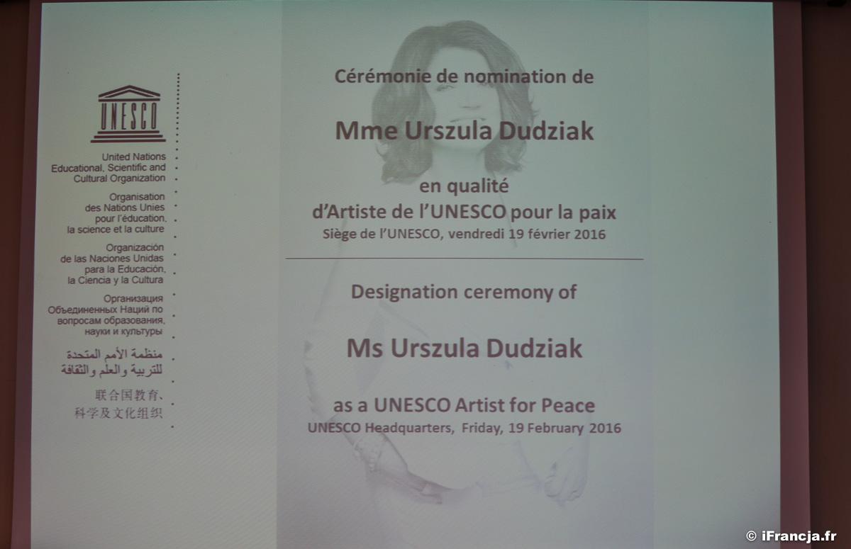 """Urszula Dudziak """"Artystą dla Pokoju"""" UNESCO"""