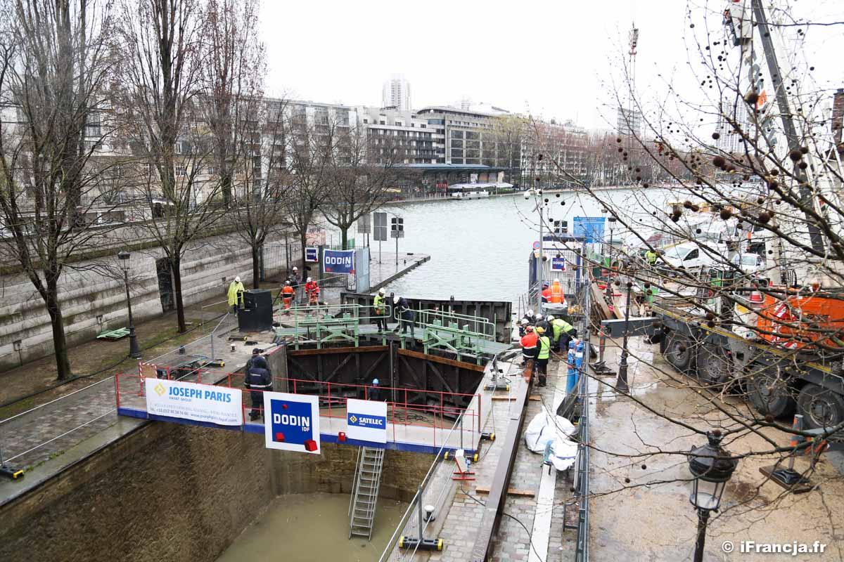 Otwarcie kanału Saint-Martin