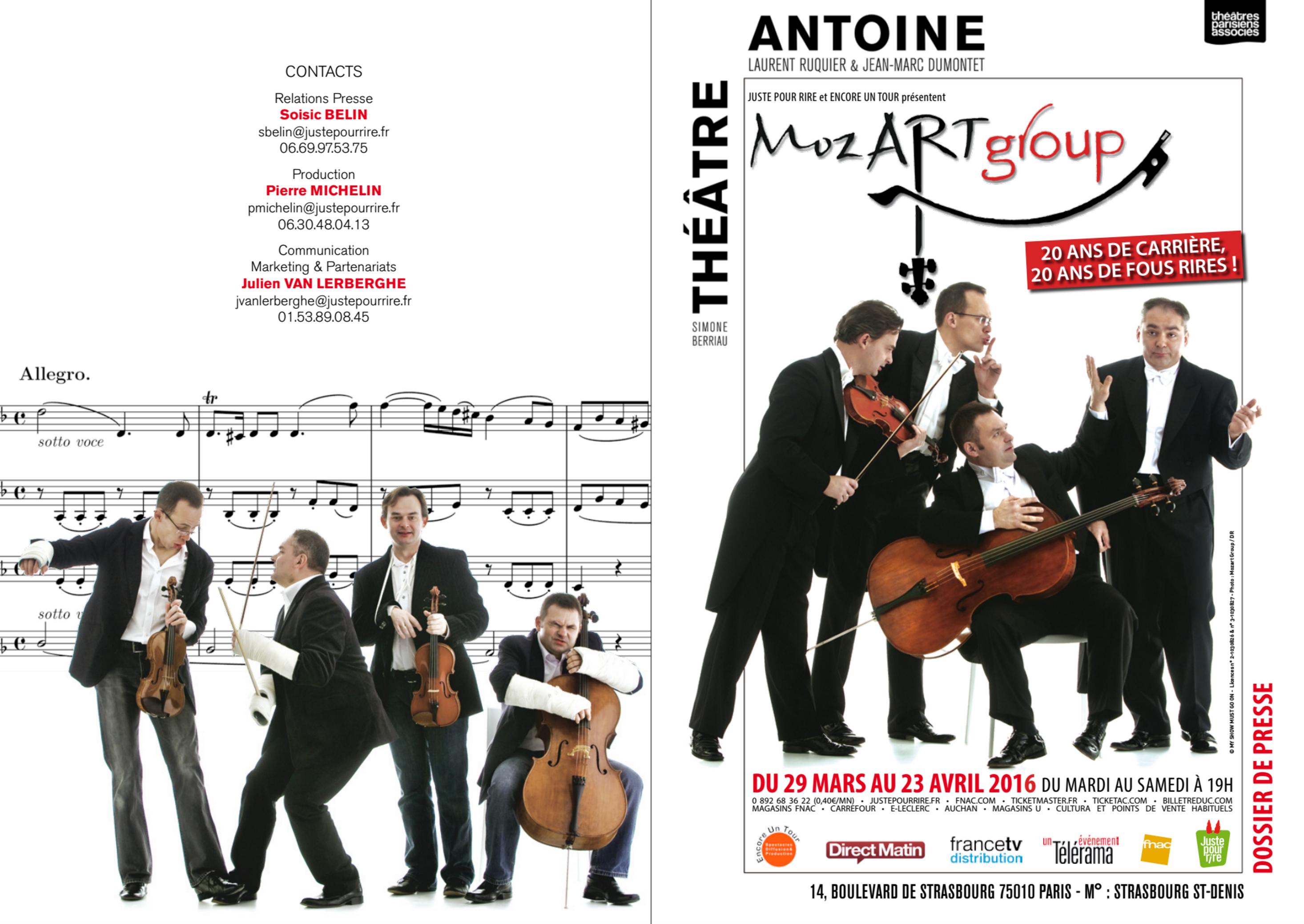 Koncerty Grupy MoCarta (MozART group) w Paryżu