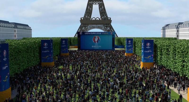Paryska Strefa Kibica już powstaje