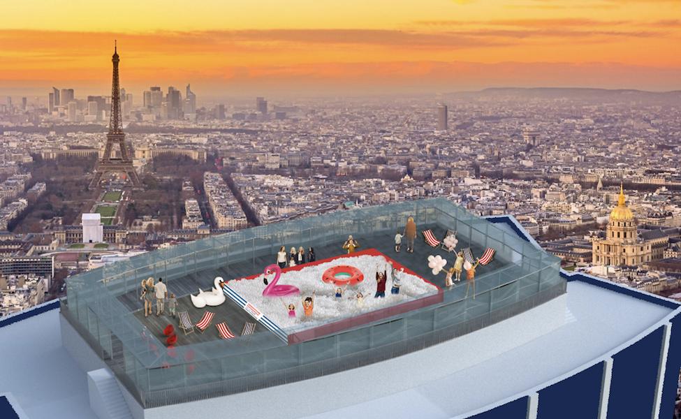 Suchy basen na paryskiej wieży Montparnasse