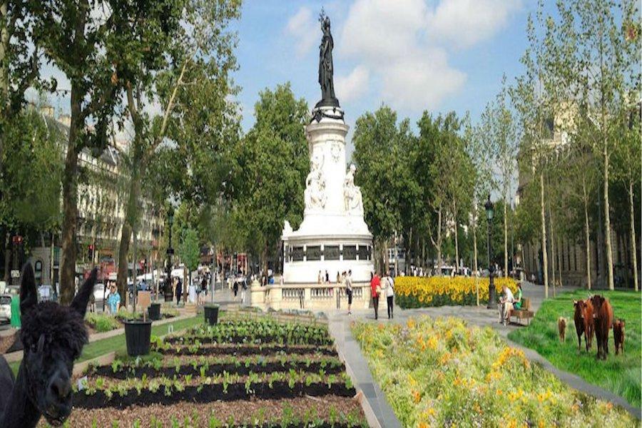 BiodiversiTerre –  pole uprawne na placu Republiki w Paryżu
