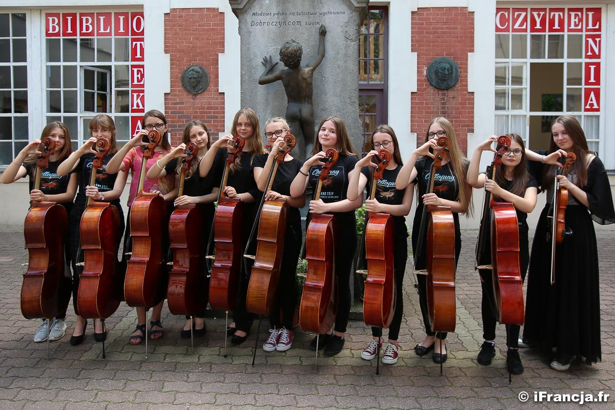 Koncert zespołu wiolonczelistów z Olsztyna Cellofuny