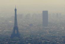 Podwyższone stężenie ozonu w powietrzu w Paryżu
