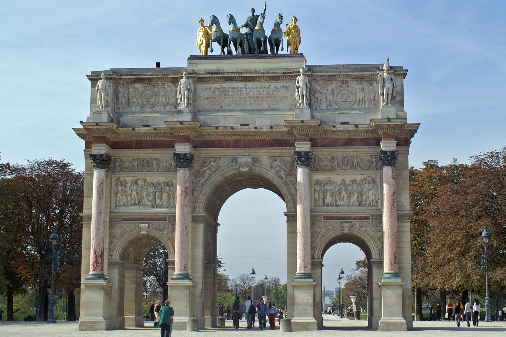 Luwr organizuje zbiórkę na renowację Arc du Carrousel