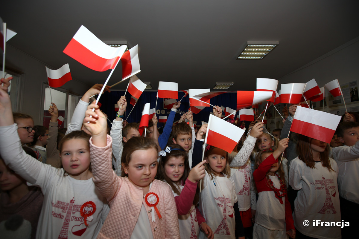 Uroczystości z okazji 100-lecia odzyskania przez Polskę niepodległości w Polskiej Szkole w Paryżu