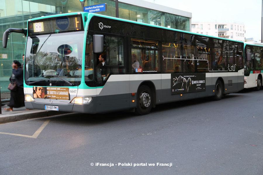 Zmiany w siatce komunikacji autobusowej w Paryżu