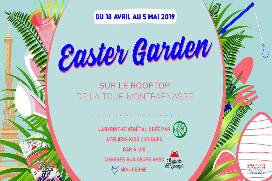 Wielkanocy ogród na dachu wieży Montparnasse
