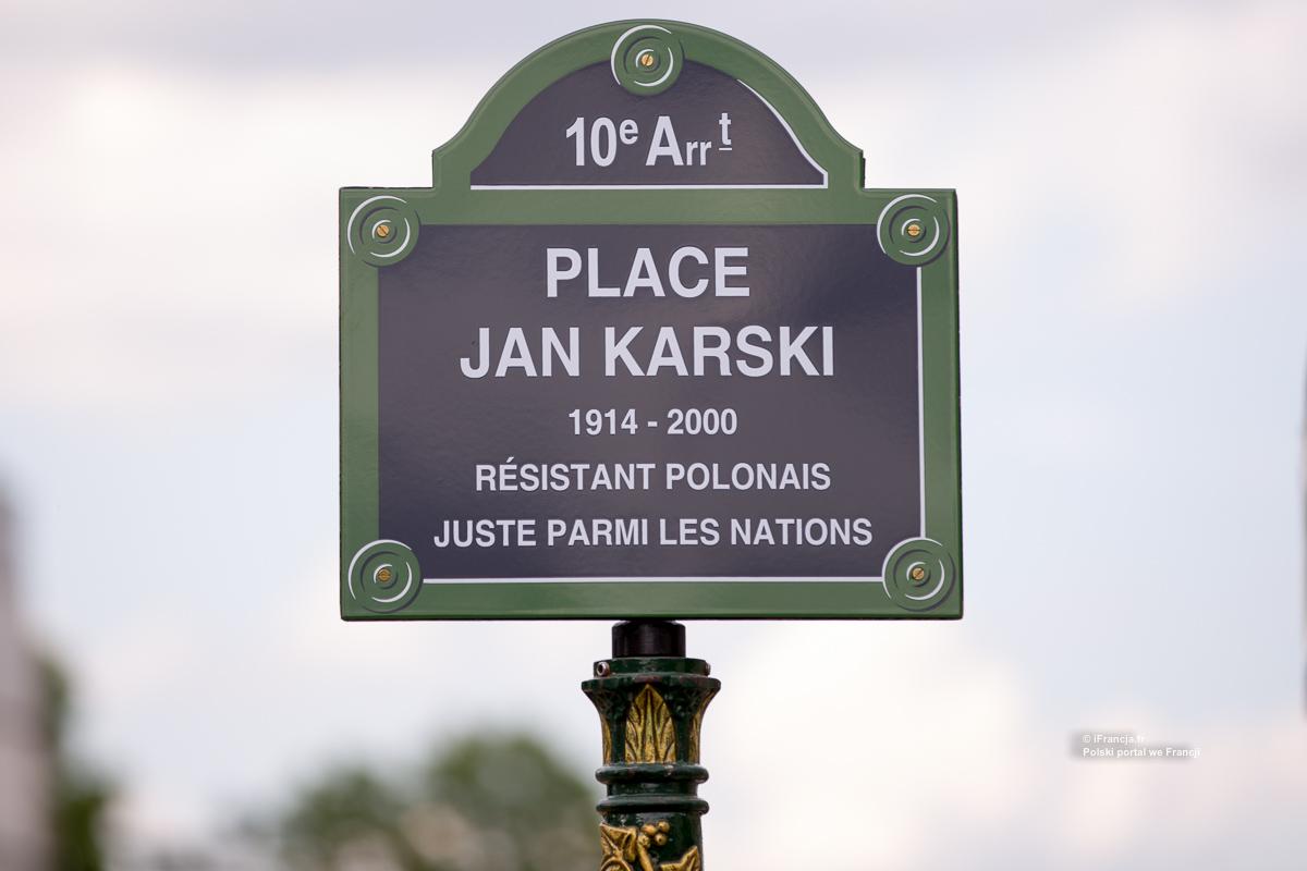 Inauguracja placu Jana Karskiego w Paryżu