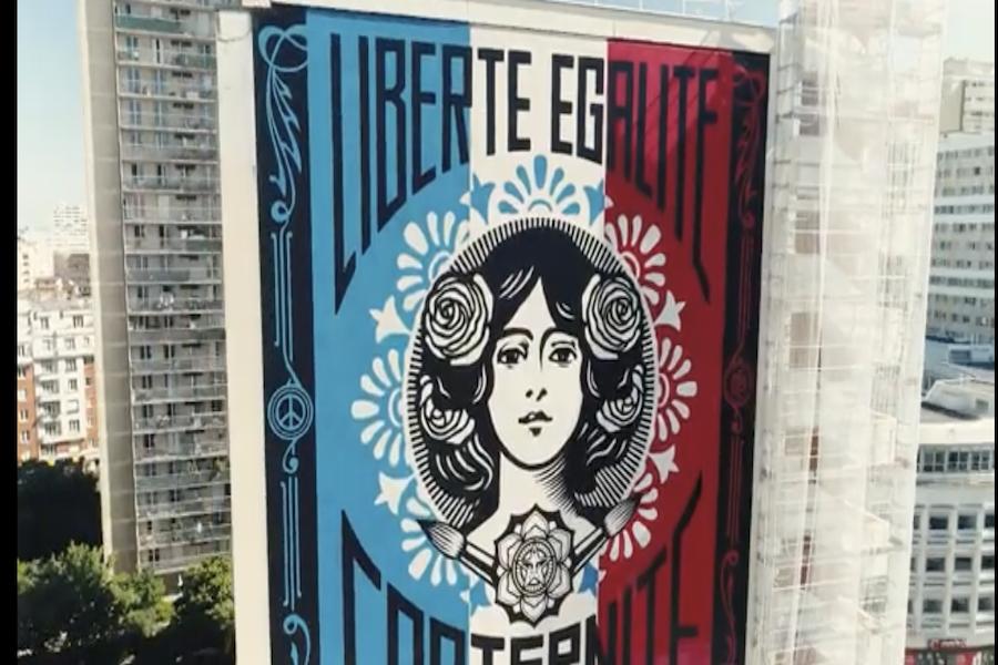 Inauguracja murali w XIII dzielnicy Paryża