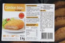 Salmonella w kotletach cordon bleu sprzedawanych przez Intermarché i Netto