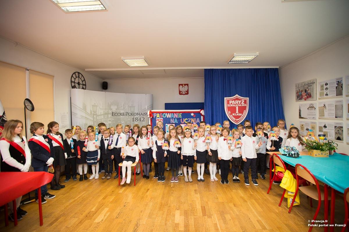 Pasowanie na ucznia w Polskiej Szkole w Paryżu