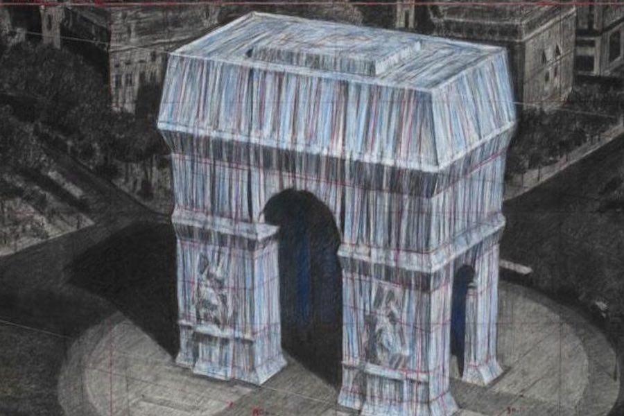Projekt opakowania Łuku Triumfalnego zostanie dokończony mimo śmierci Christo