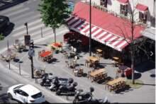 Ekspansja otwieranych ponownie kawiarni i restauracji w przestrzeni publicznej