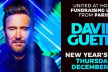 Charytatywny stream Davida Guetty w noc sylwestrową w Paryżu na żywo