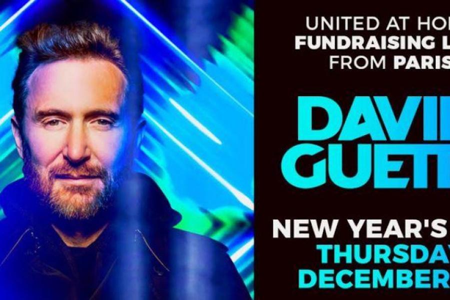 Charytatywny stream Davida Guetty w noc sylwestrową w Paryżu