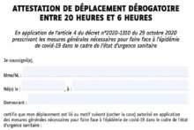 Oświadczenie dotyczące przemieszczania się podczas godziny policyjnej