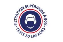 Nowe logo, którym od marca oznakowane będą maski z tkaniny kategorii 1
