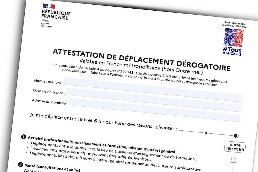 Nowe oświadczenie o celu opuszczania miejsca zamieszkania podczas godziny policyjnej