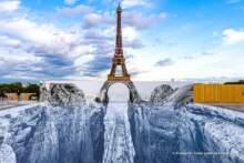Nowe dzieło francuskiego artysty o pseudonimie JR w Paryżu