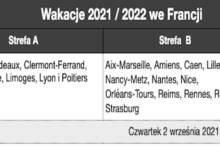 Kalendarz wakacji i ferii szkolnych we Francji 2021/2022