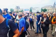 14. sobota protestów przeciwko przepustkom sanitarnym